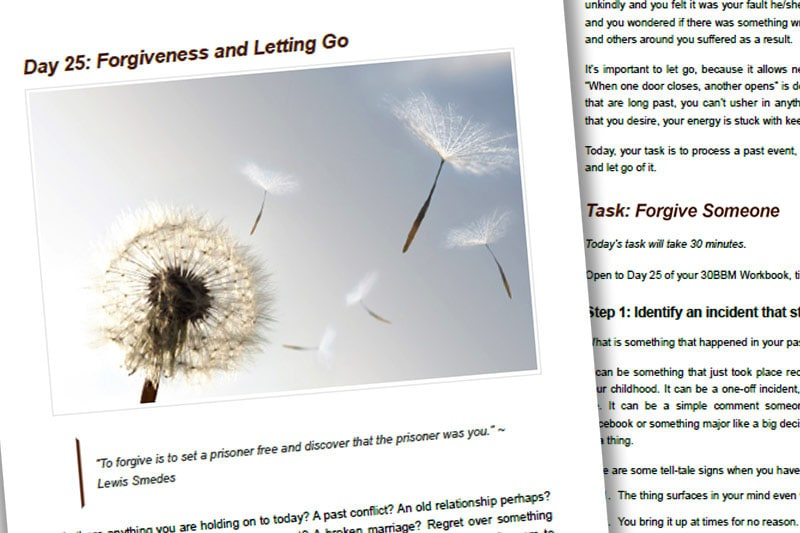 30BBM Guidebook: Forgiveness and Letting Go