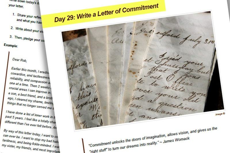 30BBM Guidebook: Write a Letter of Commitment