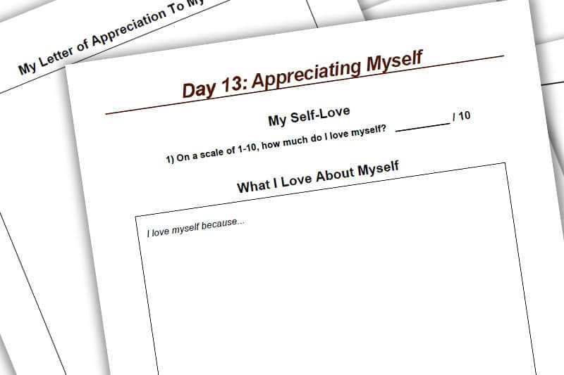 30BBM Workbook: Appreciating Myself