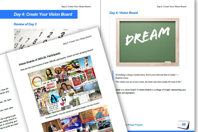 30DLBL Guidebook: Create Your Vision Board