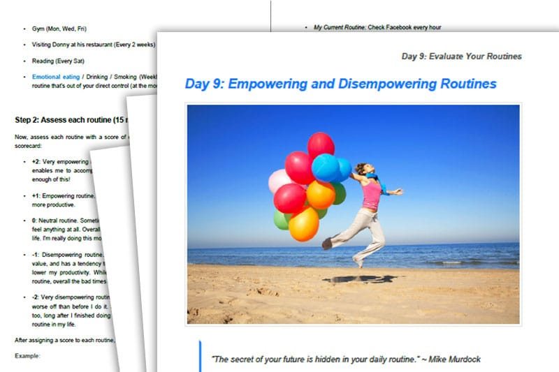 30DLBL Guidebook: Empowering and Disempowering Routines
