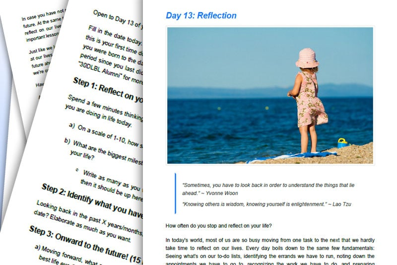 30DLBL Guidebook: Reflection