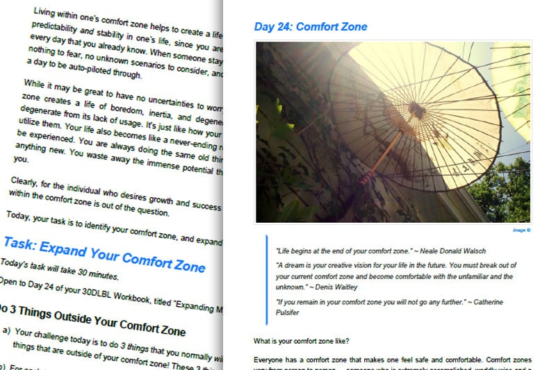 30DLBL Guidebook: Comfort Zone