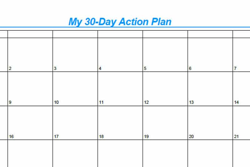 30DLBL Workbook: My 30-Day Action Plan