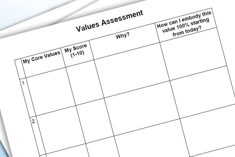 30DLBL Workbook: Values Assessment