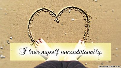 "Affirmation Day 2, [Self-Love] Wallpaper: ""I love myself unconditionally."""