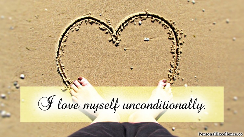 "Affirmation Wallpaper, [Self-Love]: ""I love myself unconditionally."""