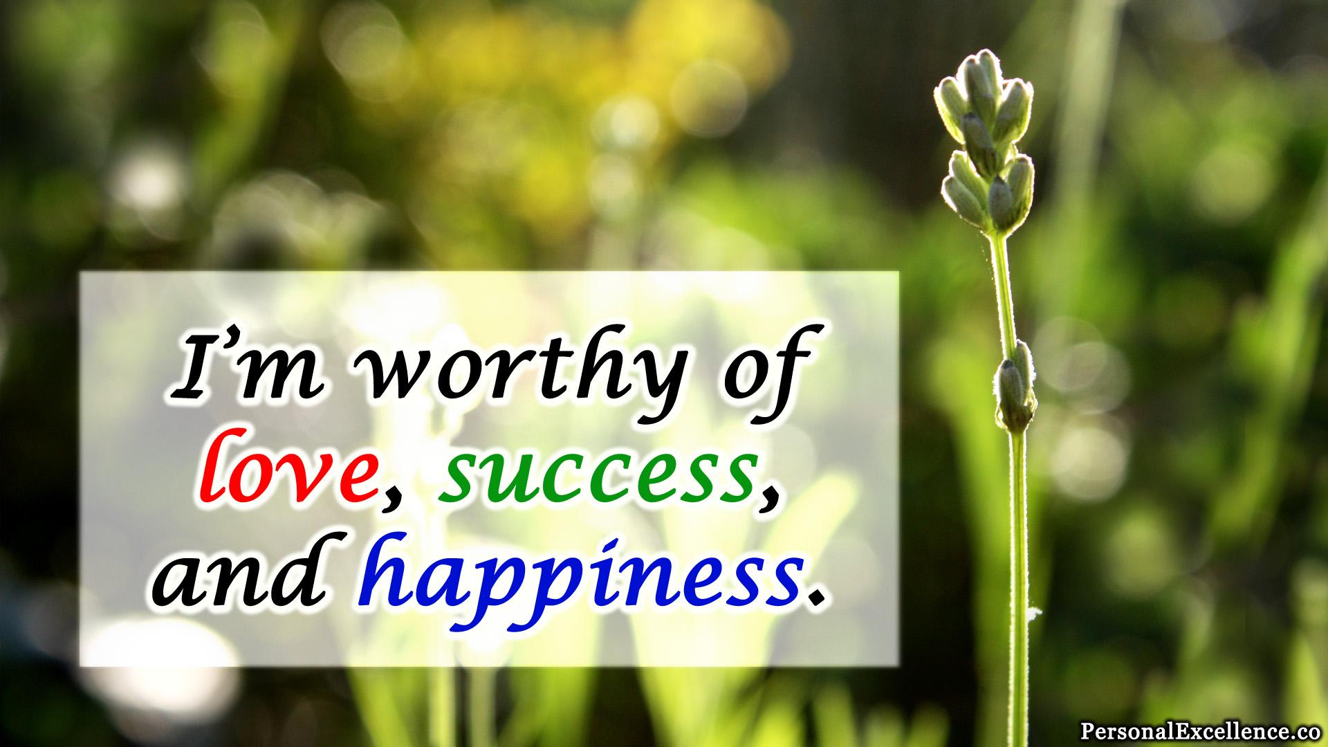Develop Self Respect Affirmation Self Worth C