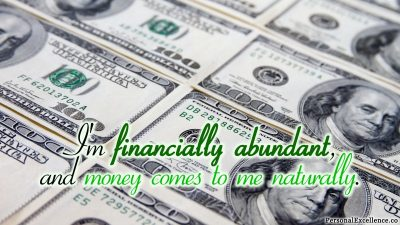 "Affirmation Day 12, [Wealth] Wallpaper: ""I'm financially abundant, and money comes to me naturally."""