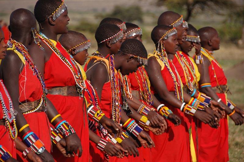 Africans chanting and singing Kumbaya