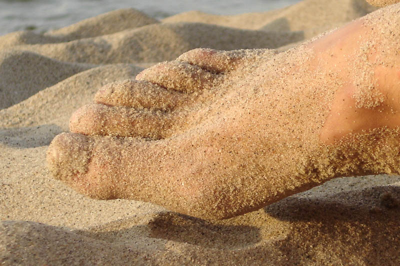 Barefoot on sand