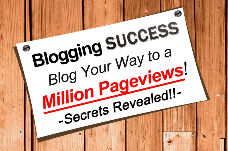Blogging Success Course: Blog Your Way To A Million Pageviews!