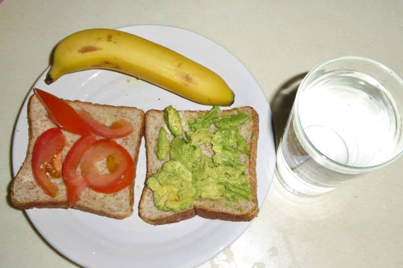 Bread, Banana, and Water