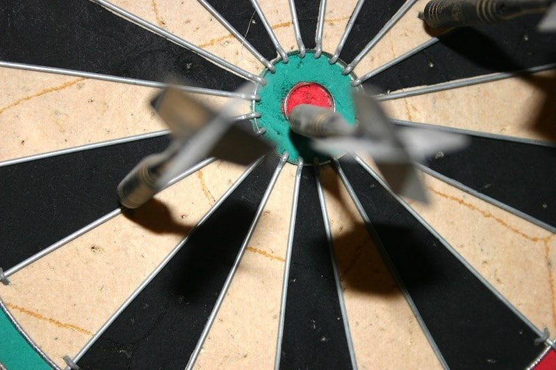 Bullseye on a dartboard
