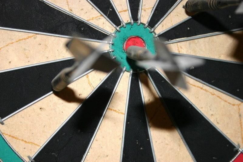 Bullseye on a dartboard