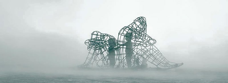 "Burning Man Sculpture ""Love"" - Inner Child Trapped in Us, by Alexandr Milov"