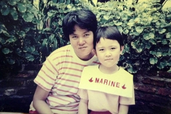 1990: With my mom :)