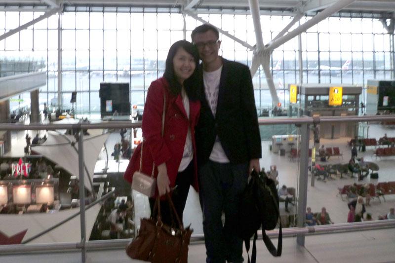 At London Heathrow Airport