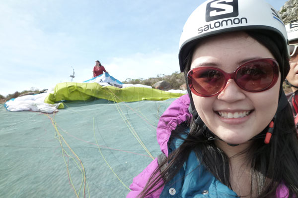 Paragliding: Celes, before the flight
