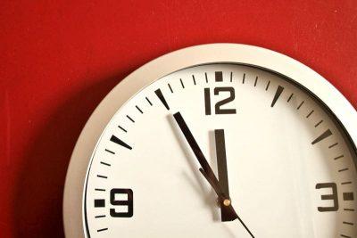 Clock — Leaving things to last minute