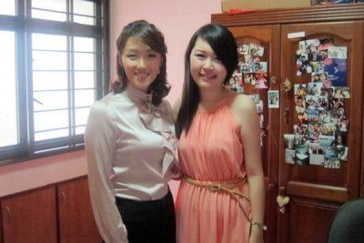 Suzanne Jung and Celestine Chua
