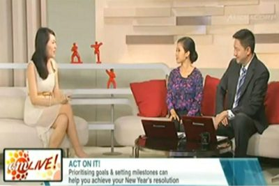 Channel News Asia, AM LIVE!: Celestine Chua with Yvonne Yong and Steven Chia