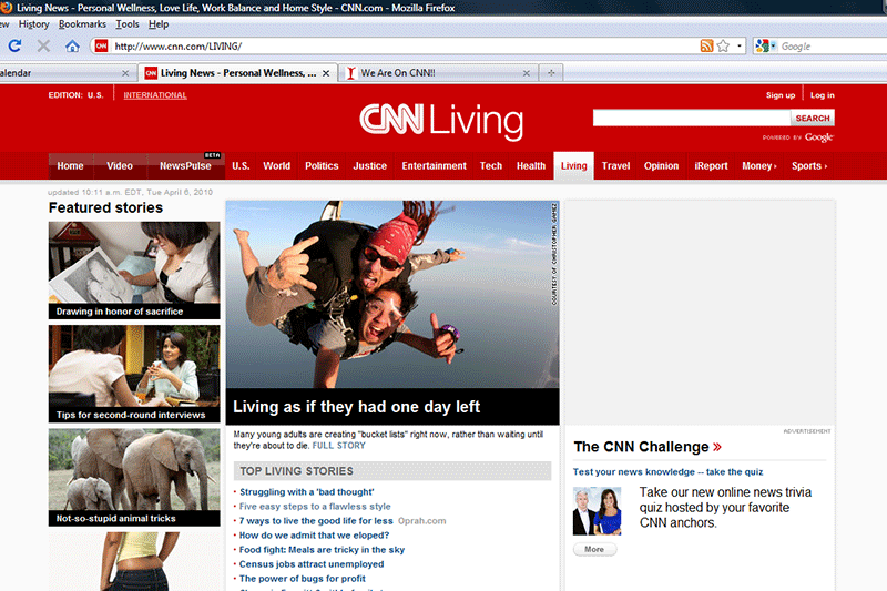 My CNN feature on Bucket Lists