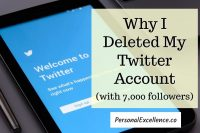 Why I Deleted My Twitter Account (with 7,000 followers)