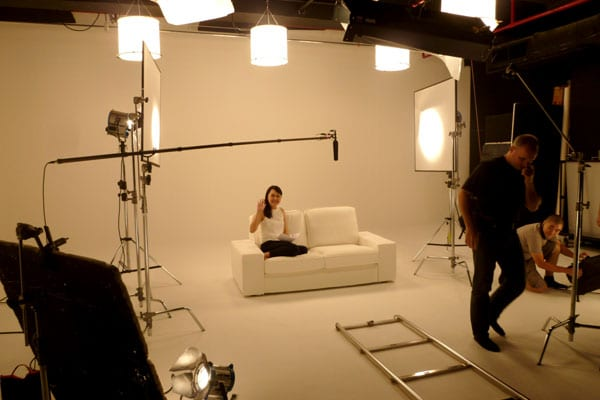 Dove Camera Confidence Shoot: Celes on the set