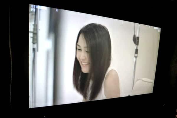 Dove Camera Confidence Shoot: Celes smiling, candid shot