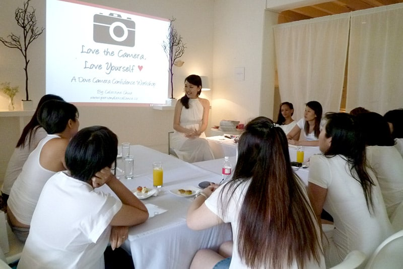 Dove Camera Confidence Workshop: Interacting with participants