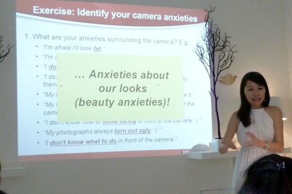 Dove Camera Confidence Workshop: The root of camera anxieties = Our beauty anxieties!