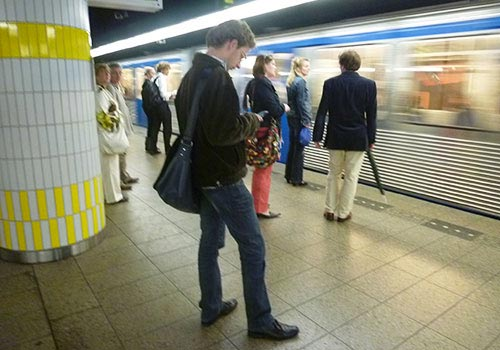 Commuters in Amsterdam