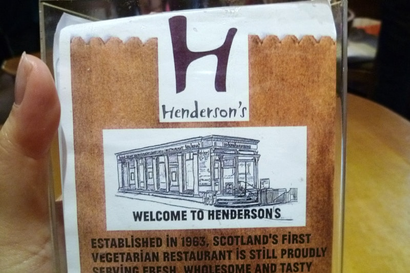 Henderson's — First vegetarian restaurant in Scotland
