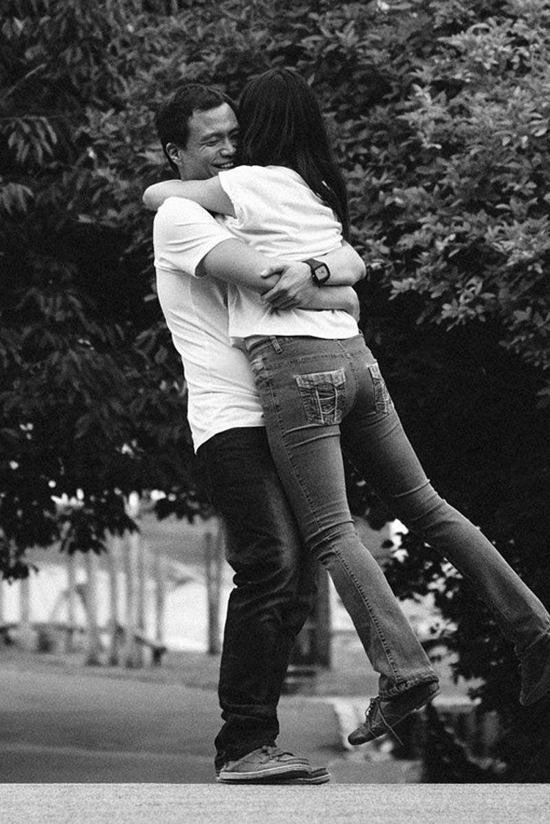 Engagement shoot: Ken swinging me around