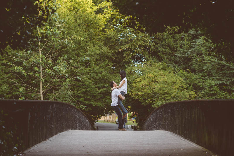 Engagement shoot: On the bridge