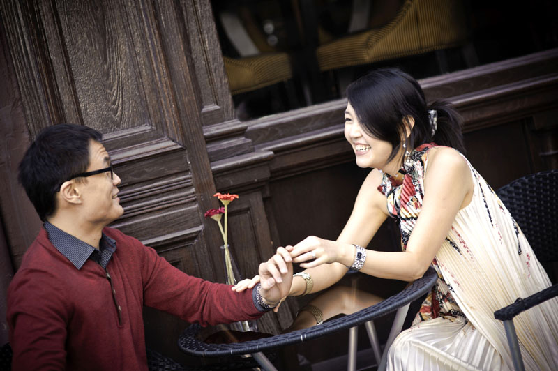 Engagement shoot: Joking around