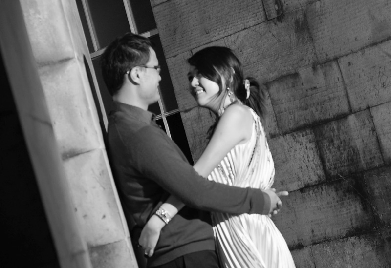 Engagement shoot: Closeup (St Giles' Cathedral)
