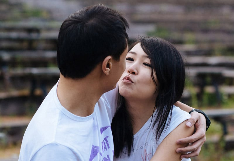 Engagement shoot: Kiss