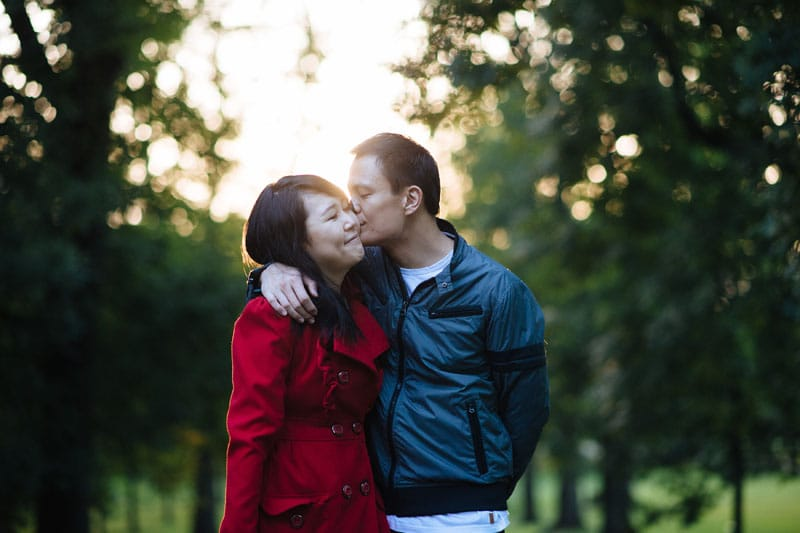 Engagement shoot: A quiet moment in the park