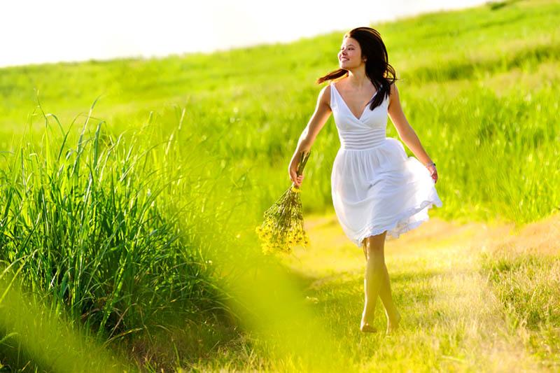 Girl strolling