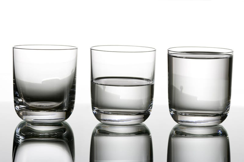 Glass of water -- Half empty or Half full?