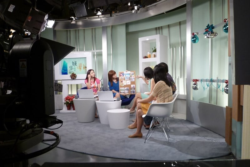 Me in Good Morning Singapore! sharing on my vision board