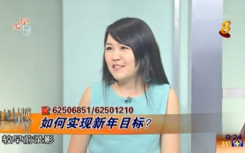 Celestine Chua on Good Morning Singapore!
