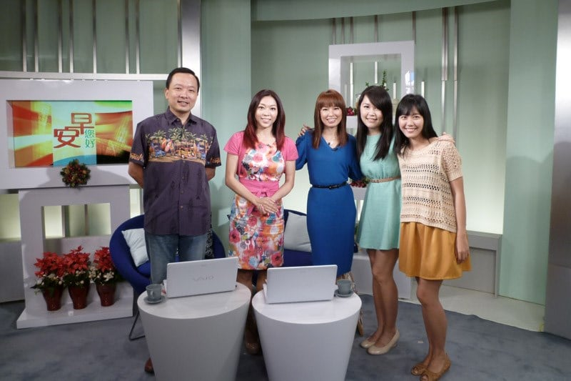 Good Morning Singapore! Interview Group Shot (Dec 28, 2012)