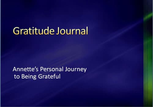 Gratitude Journal by Annette Hatley