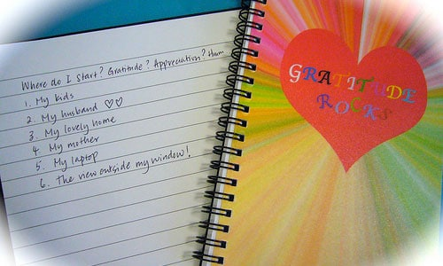 An example of a simple gratitude journal