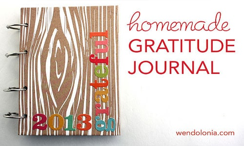 A homemade gratitude journal by Wendy Copley (Cover)