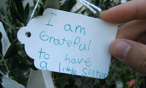 """""""I'm grateful to have a little sister"""""""
