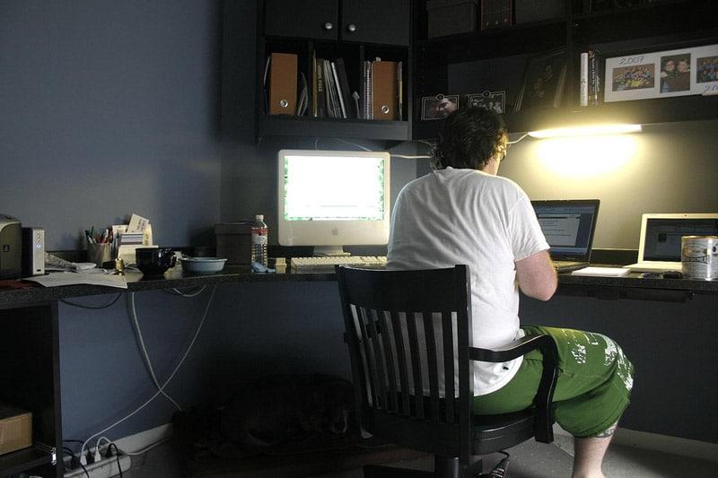 Guy working